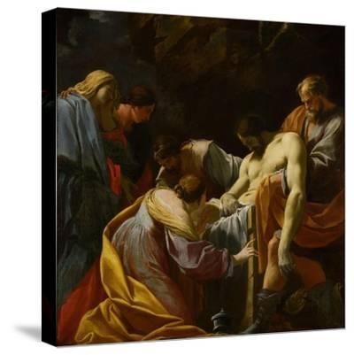 The Entombment-Simon Vouet-Stretched Canvas Print