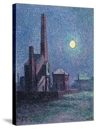 Factory in the Moonlight-Maximilien Luce-Stretched Canvas Print