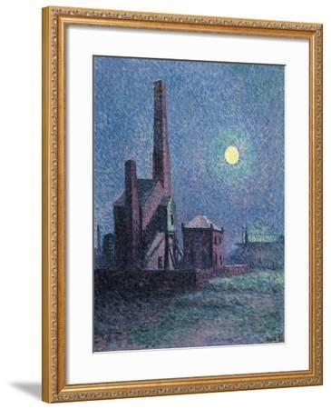 Factory in the Moonlight-Maximilien Luce-Framed Giclee Print