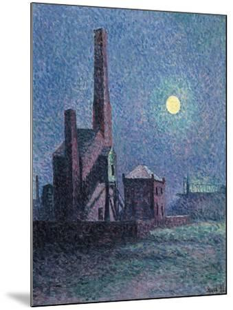 Factory in the Moonlight-Maximilien Luce-Mounted Giclee Print