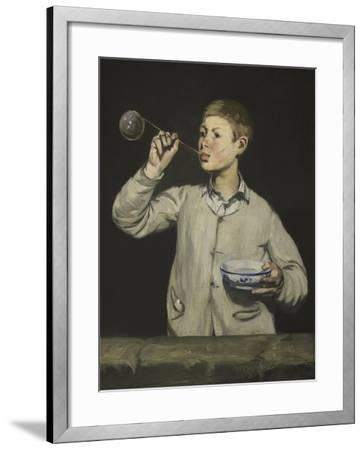 Boy Blowing Bubbles-Edouard Manet-Framed Giclee Print