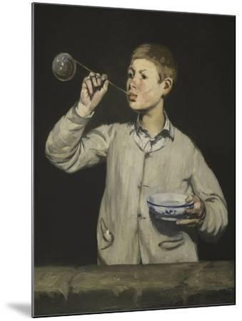 Boy Blowing Bubbles-Edouard Manet-Mounted Giclee Print