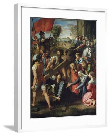 Christ Carrying the Cross-Raphael-Framed Giclee Print