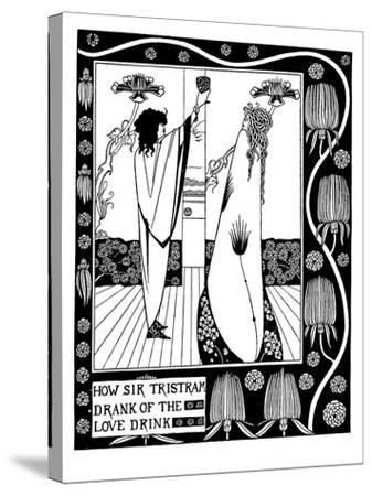 Illustration to the Book Le Morte D'Arthur by Sir Thomas Malory-Aubrey Beardsley-Stretched Canvas Print