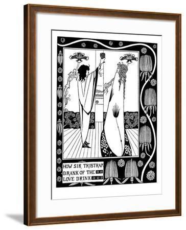 Illustration to the Book Le Morte D'Arthur by Sir Thomas Malory-Aubrey Beardsley-Framed Giclee Print