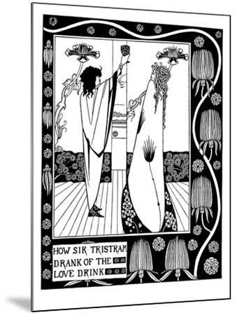 Illustration to the Book Le Morte D'Arthur by Sir Thomas Malory-Aubrey Beardsley-Mounted Giclee Print