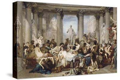 Romans During the Decadence, 1847-Thomas Couture-Stretched Canvas Print