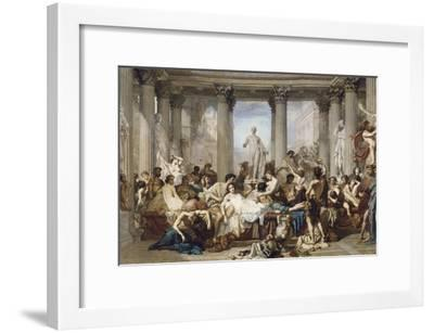 Romans During the Decadence, 1847-Thomas Couture-Framed Giclee Print