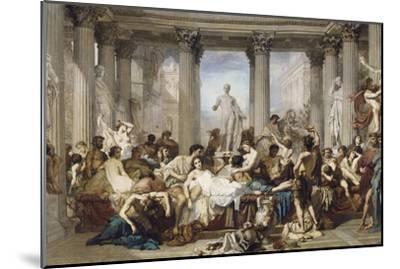 Romans During the Decadence, 1847-Thomas Couture-Mounted Giclee Print