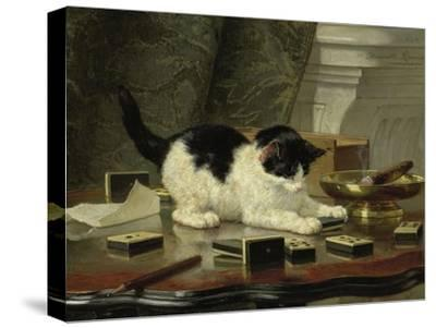 Kitten's Game, Ca 1860-1870-Henriëtte Ronner-Knip-Stretched Canvas Print