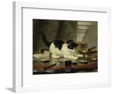 Kitten's Game, Ca 1860-1870-Henriëtte Ronner-Knip-Framed Giclee Print