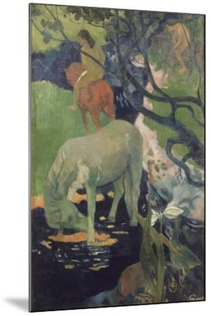 The White Horse, 1898-Paul Gauguin-Mounted Giclee Print