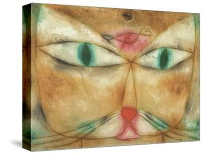 Cat and Bird-Paul Klee-Stretched Canvas Print