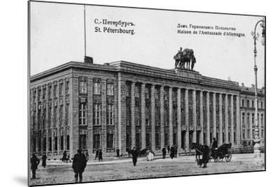 The German Embassy in Petersburg--Mounted Giclee Print