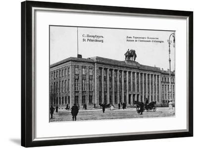 The German Embassy in Petersburg--Framed Giclee Print