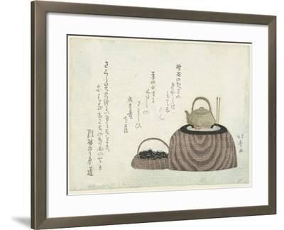 Tea Kettle on the Stove-Shotei Hokuju-Framed Giclee Print