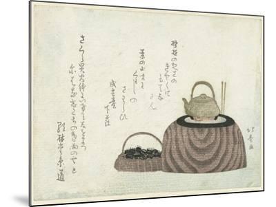 Tea Kettle on the Stove-Shotei Hokuju-Mounted Giclee Print