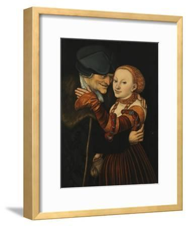 The Unequal Couple-Lucas Cranach the Elder-Framed Giclee Print