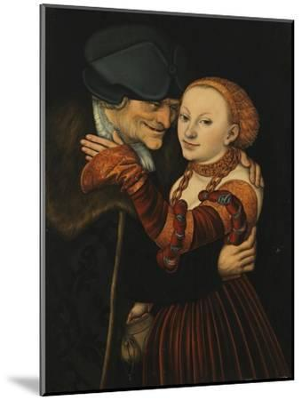 The Unequal Couple-Lucas Cranach the Elder-Mounted Giclee Print