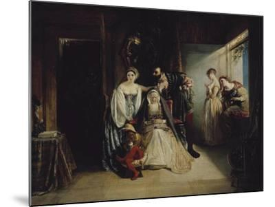 Francis I and Diane De Poitiers-Daniel Maclise-Mounted Giclee Print
