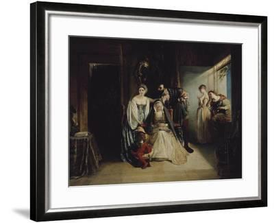 Francis I and Diane De Poitiers-Daniel Maclise-Framed Giclee Print