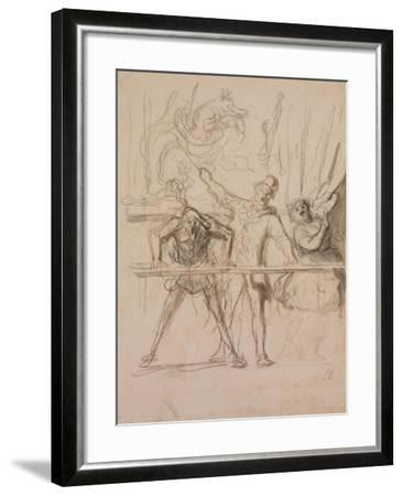 The Side-Show-Honor? Daumier-Framed Giclee Print