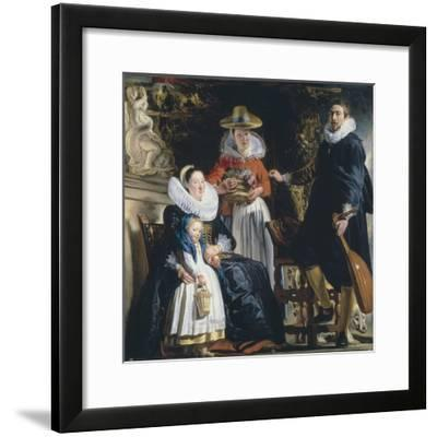The Painter's Family-Jacob Jordaens-Framed Giclee Print