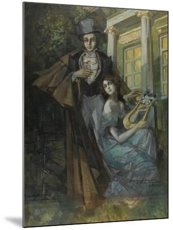 Pushkin and the Muse-Konstantin Alexeyevich Korovin-Mounted Giclee Print