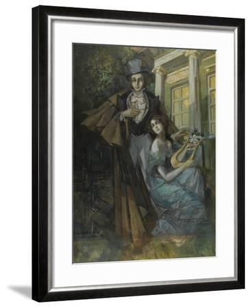 Pushkin and the Muse-Konstantin Alexeyevich Korovin-Framed Giclee Print
