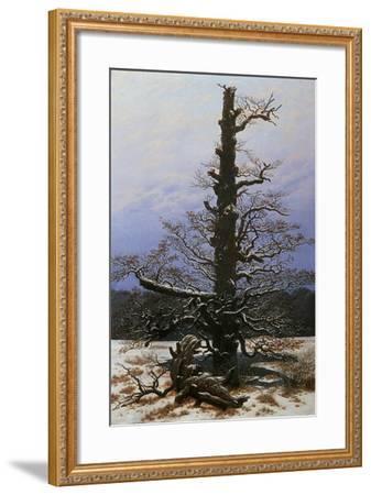 Oak Tree in the Snow-Caspar David Friedrich-Framed Giclee Print