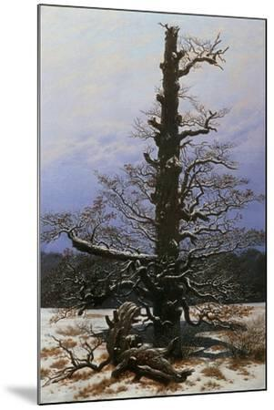 Oak Tree in the Snow-Caspar David Friedrich-Mounted Giclee Print