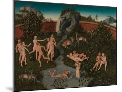 The Golden Age-Lucas Cranach the Elder-Mounted Giclee Print