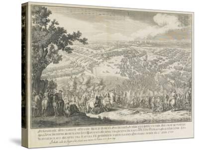 The Battle of Poltava on 27 June 1709-Nicolas de Larmessin-Stretched Canvas Print