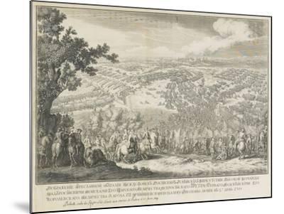 The Battle of Poltava on 27 June 1709-Nicolas de Larmessin-Mounted Giclee Print