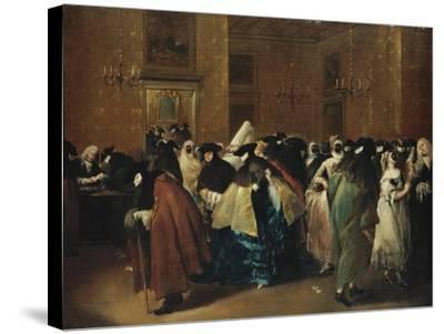 Casino (Il Ridott) in Venice-Francesco Guardi-Stretched Canvas Print