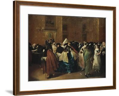 Casino (Il Ridott) in Venice-Francesco Guardi-Framed Giclee Print