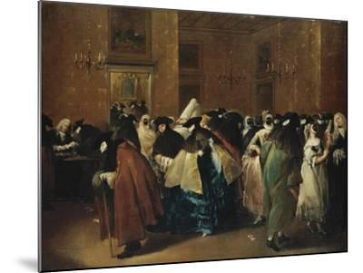 Casino (Il Ridott) in Venice-Francesco Guardi-Mounted Giclee Print