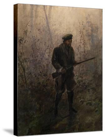 Hunter in the Forest-Ivan Pavlovich Pokhitonov-Stretched Canvas Print