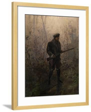 Hunter in the Forest-Ivan Pavlovich Pokhitonov-Framed Giclee Print