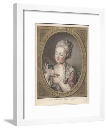 Woman Taking Coffee-Louis-Marin Bonnet-Framed Giclee Print