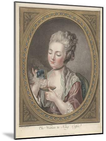 Woman Taking Coffee-Louis-Marin Bonnet-Mounted Giclee Print