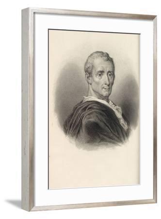 Charles De Secondat, Baron De Montesquieu (1689-175)--Framed Giclee Print