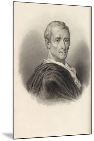 Charles De Secondat, Baron De Montesquieu (1689-175)--Mounted Giclee Print