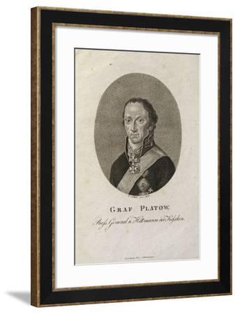 Portrait of Count Matvei Ivanovich Platov (1757-181)-Karl Friedrich Schulz-Framed Giclee Print