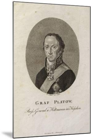 Portrait of Count Matvei Ivanovich Platov (1757-181)-Karl Friedrich Schulz-Mounted Giclee Print