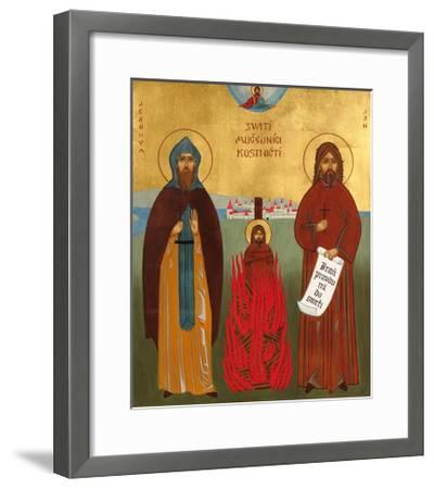 Jerome of Prague and Jan Hus-Jana Baudisova-Framed Giclee Print