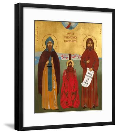 Jerome of Prague and Jan Hus-Jana Baudisova-Framed Giclee Print