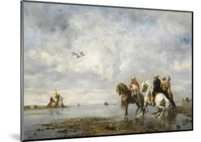 The Heron Hunt-Eugène Fromentin-Mounted Giclee Print