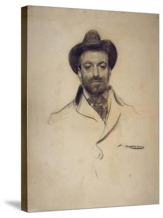 Portrait of Josep Maria Sert (1874-194)-Ramon Casas-Stretched Canvas Print