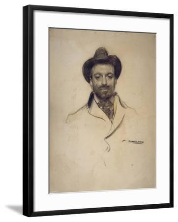 Portrait of Josep Maria Sert (1874-194)-Ramon Casas-Framed Giclee Print